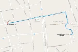 Distanza dallo Studio di Palermo al Tribunale