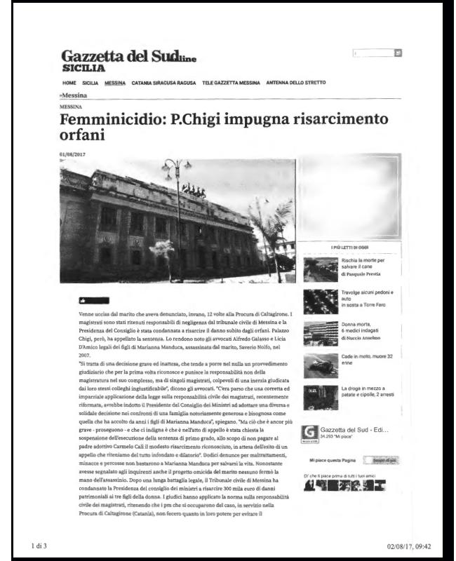 GAZZETTA-DEL-SUD---Palazzo-Chigi-impugna-risarcimento-degli-orfani